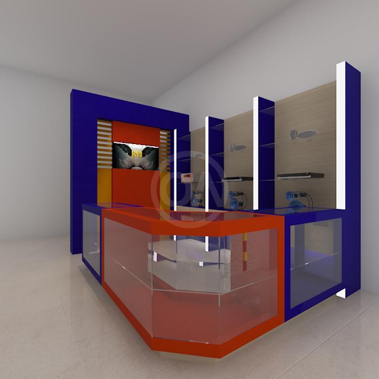 desain interior stand pameran
