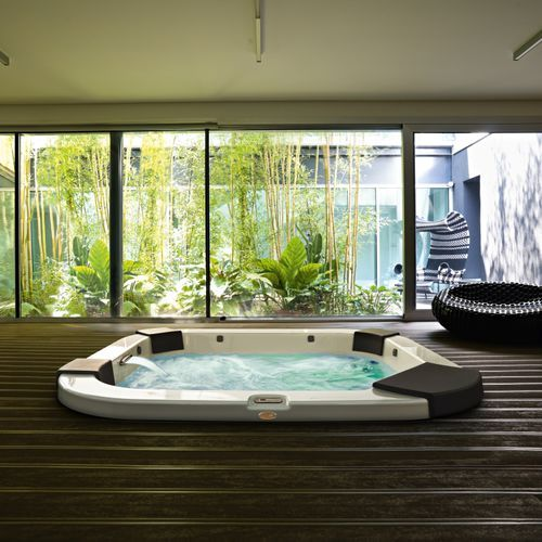 desain interior spa berkonsep natural. Black Bedroom Furniture Sets. Home Design Ideas