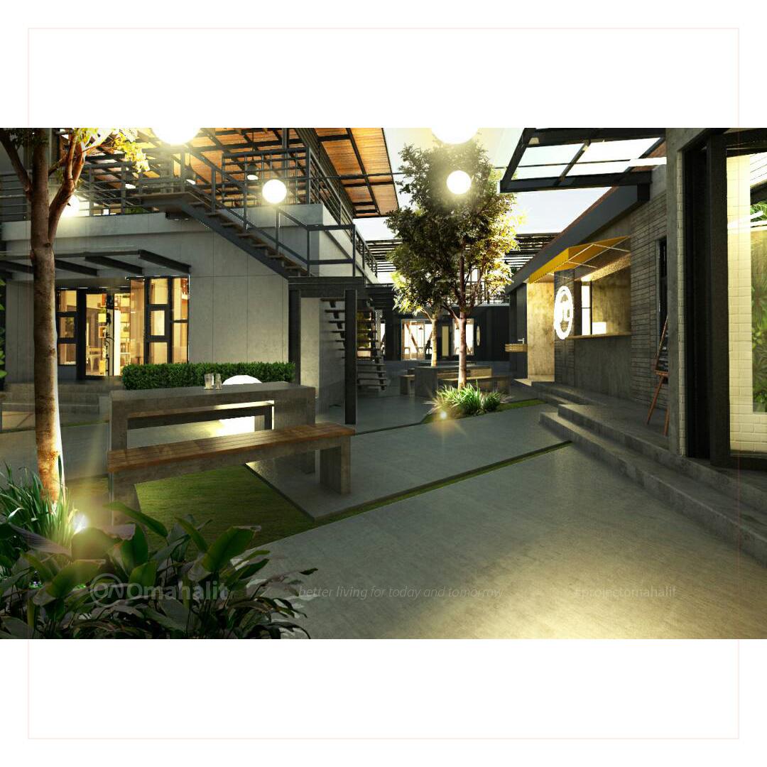 Jasa Desain interior Cafe Pemalang pekalongan tegal batang kendal meja beton