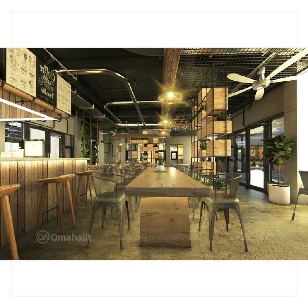 Jasa Desain interior Cafe Pemalang pekalongan tegal batang kendal food area