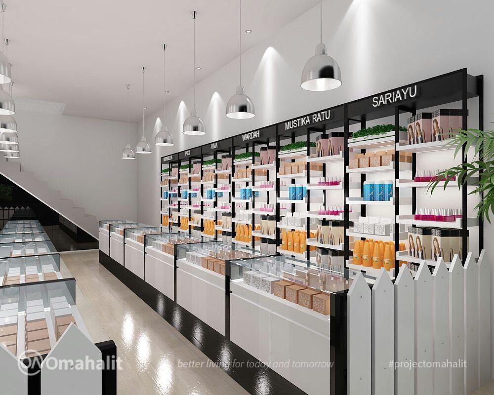 Jasa Desain Interior Toko Kosmetik
