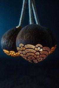 Lampu Unik Dari Batok Kelapa Source by Artfire