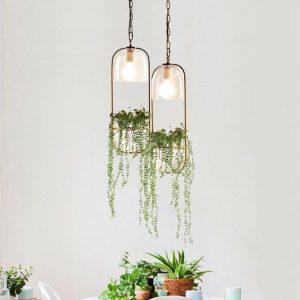 Desain Lampu Unik Tema Tumbuhan Source by Tudoandco