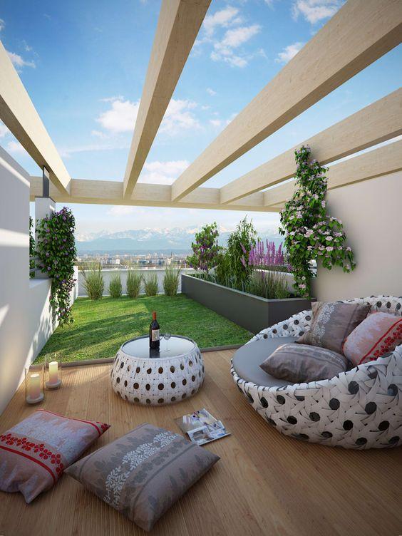 Jasa Arsitek Profesional Untuk Membuat Roof Garden Source by Homify on Pinterest
