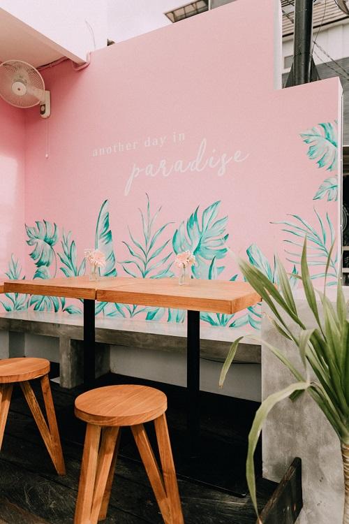 Jasa Mural Cafe Tanaman