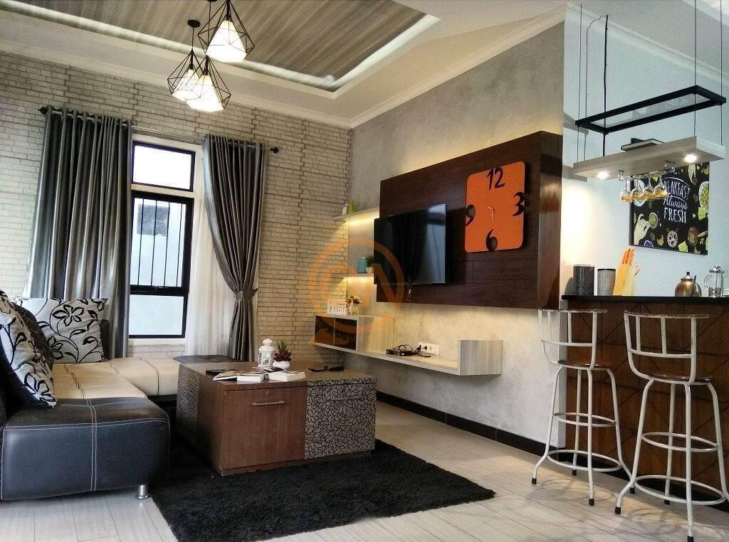 Dekorasi monochrome house
