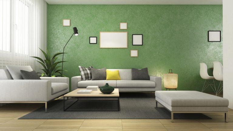 Cat Rumah Warna Moss green