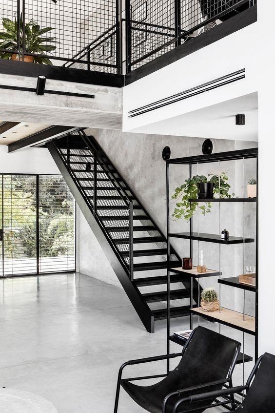 Desain sederhana rumah gaya industrialis