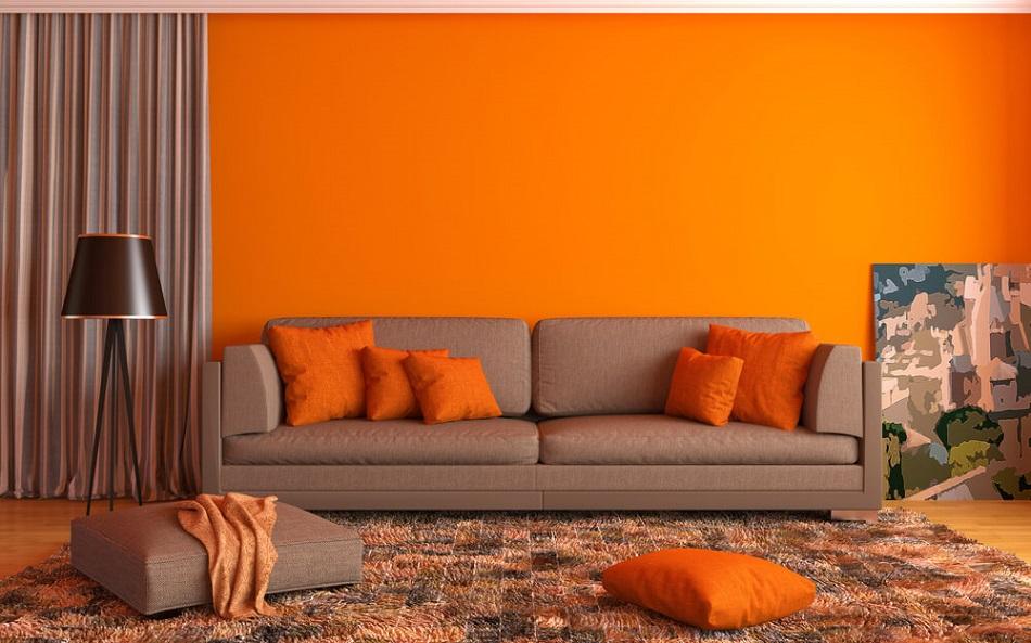 Warna Cat Rumah Oranye