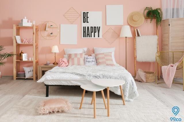 Warna cat rumah Rosy hue