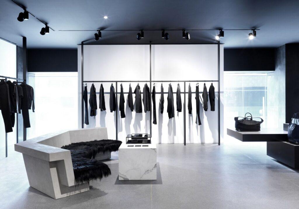 Desain interior toko baju minimalis