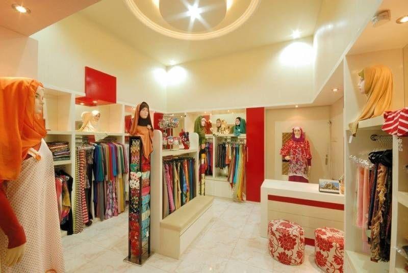 Desain interior toko baju muslim