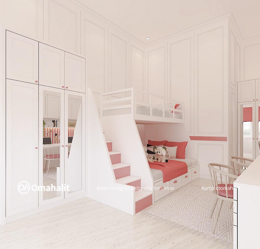 Kamar Tidur Anak Semi Classic Warna Pastel